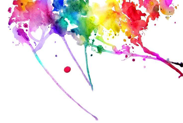 Как сделать брызги из краски на бумаге
