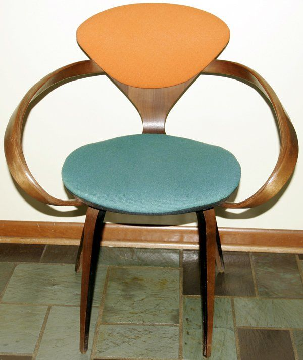 cherner armchair by norman cherner with padding