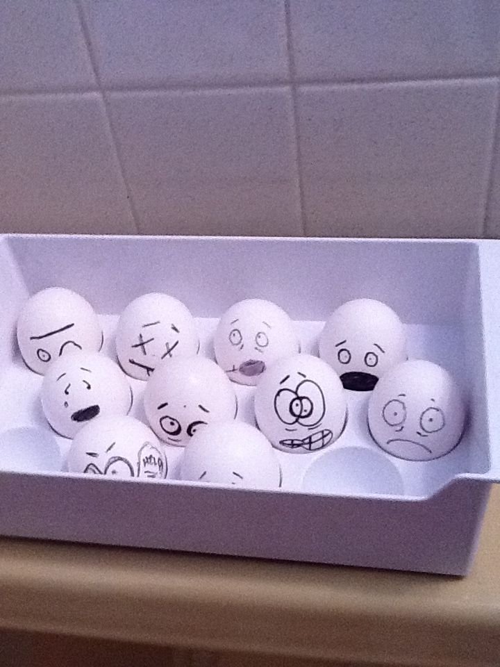 What a funny little prank! When staying at someone's house this holiday season, sneak into their fridge and use a Sharpie to draw faces on their eggs. What a funny surprise when they open the carton!