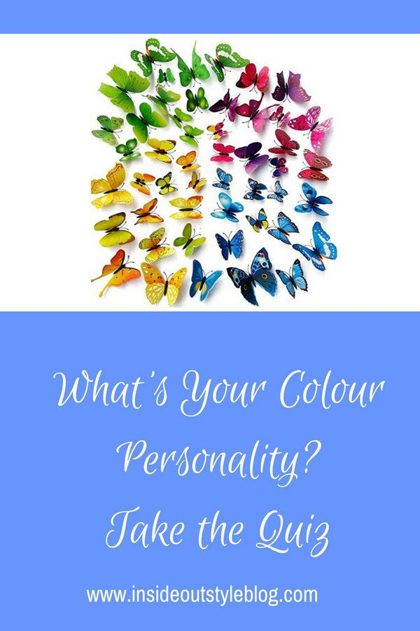 What's your colour personality? Which colours do you prefer to wear and why? Discover how your personality influences your colour choices - take the colour personality quiz