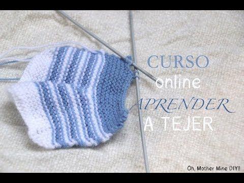 Curso de tejido a dos agujas clase #6: Cómo cerrar la labor con puntos ... | Crochet y Dos agujas