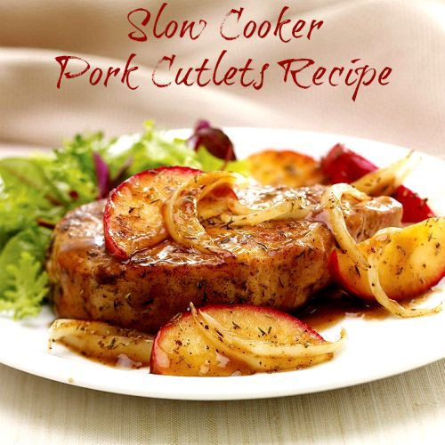 Pork Cutlets Recipe. Enjoy this slow cooker meal that's easy and delicious. #slowcooker #crockpot #dinner