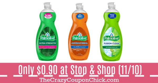 Palmolive Dish Detergent 32 oz ONLY $0.90 at Stop & Shop (11/10-Gas Points)