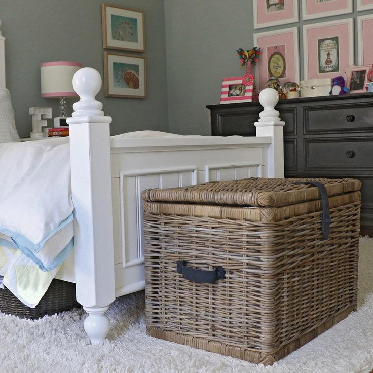 Deep Kubu Wicker Storage Trunk, XL in Serene Grey | Bedroom Storage Trunk | The Basket Lady
