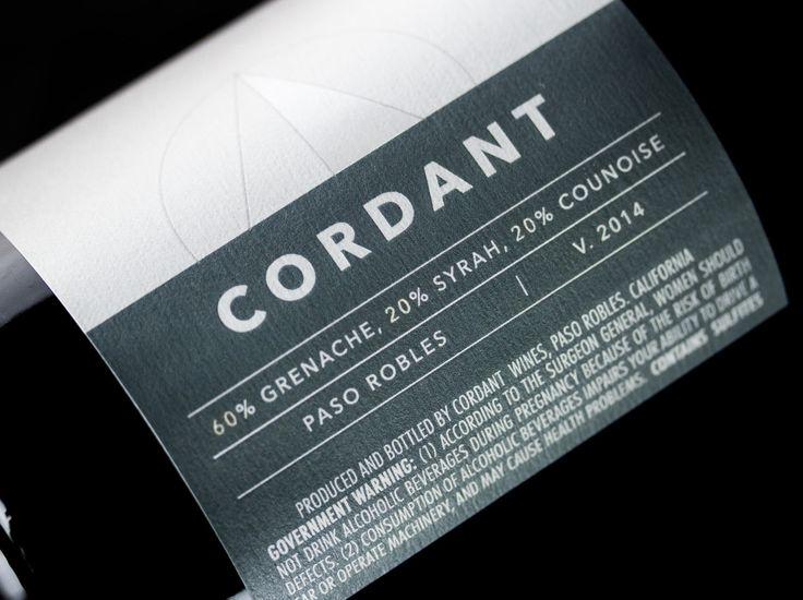 Cordant Wines — The Dieline - Branding & Packaging Design