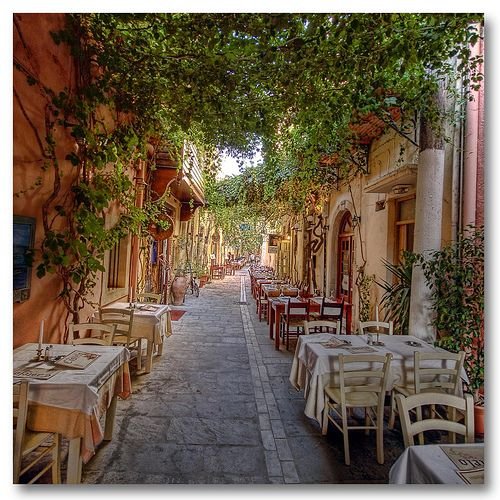 Just a little before dinner time at Rethymno, Greece