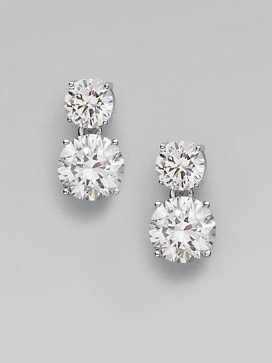 Diamond double stud earrings http://www.pinterest.com/JessicaMpins/