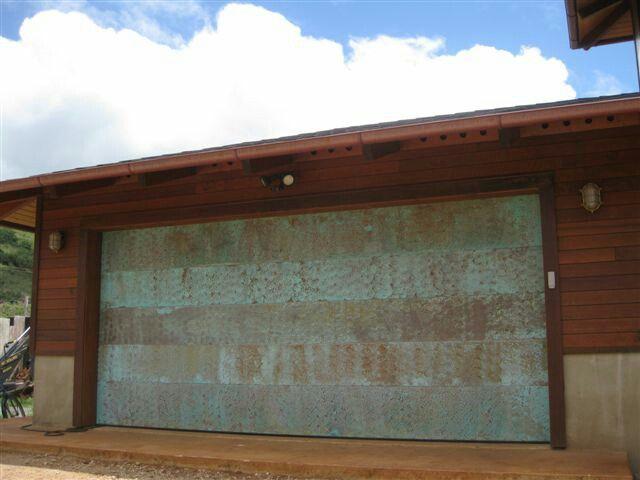 Nice Copper Garage Door