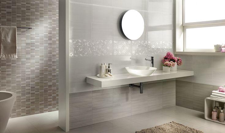 Gray shade bathroom