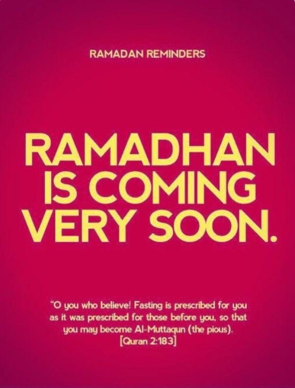 Ramadhan is coming very soon ~ in sha Allah