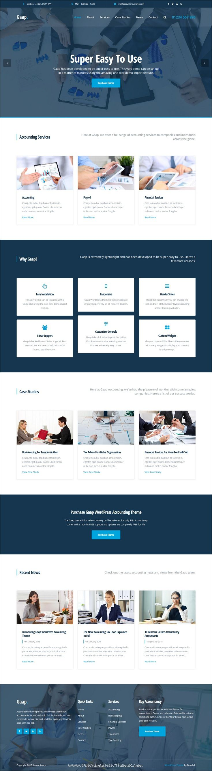 Gaap is clean and modern design responsive #WordPress theme for #accounting and business agencies professional #website to live preview & download click on image or Visit