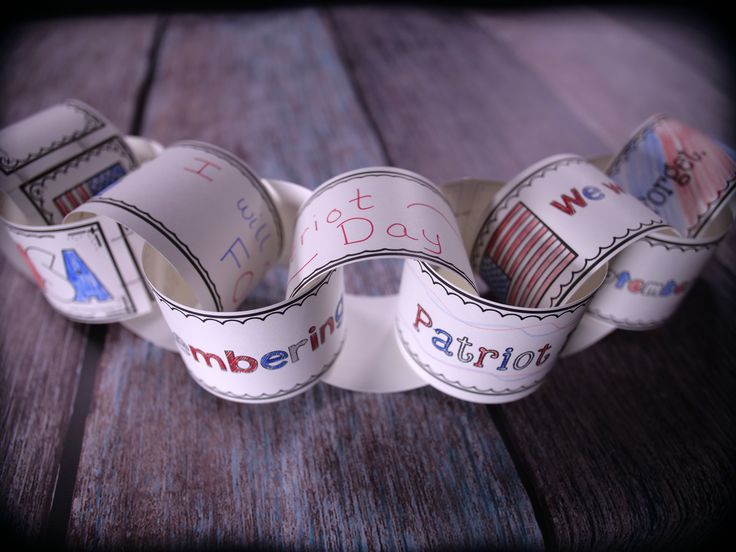 Remember September 11th and Patriot Day with this Remembrance Chain activity. It includes a reading passage that explains the significance of 9/11 and a hands on activity that allows kids to create a chain of remembrance for the day.