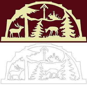 Details Zu Schwibbogen Vorlage Tiere Mit Futterstelle Im Forst