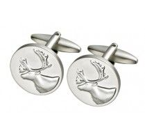 CARIBOU CUFFLINKS. Caribou with a complex antler structure that resembles a crown is also known as the king of the forest! Dress up in style with these stylish cufflinks.  http://www.stunningselection.com/caribou-cufflink