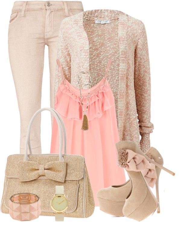 """Casual Pastel"" by elenh2005 ❤ liked on Polyvore...minus the shoes"