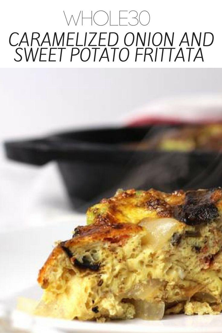 Whole30 Caramelized Onion and Sweet Potato Frittata