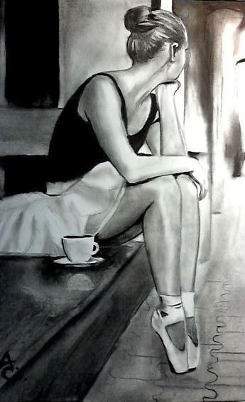 Love this drawing because I love the original picture as well!!! Xxx it's the black & white pic with the light blue point shoes - I think!! X