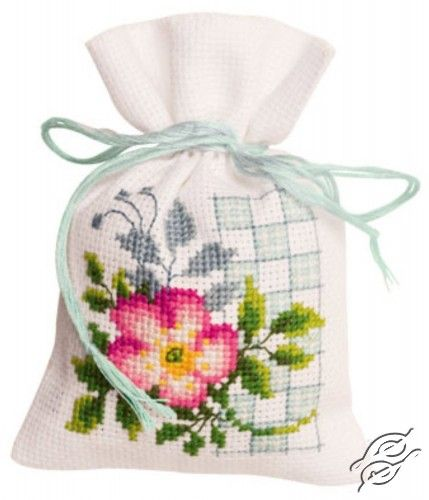 Pink Flowers I - Cross Stitch Kits by VERVACO - PN-0146543