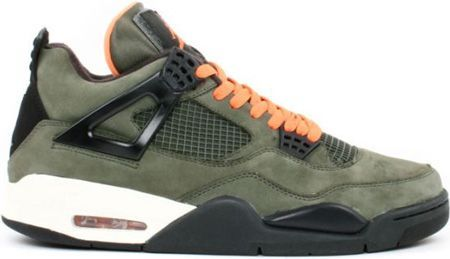 Air Jordan 4 Undefeated Olive Oiled Suede Flight Satin