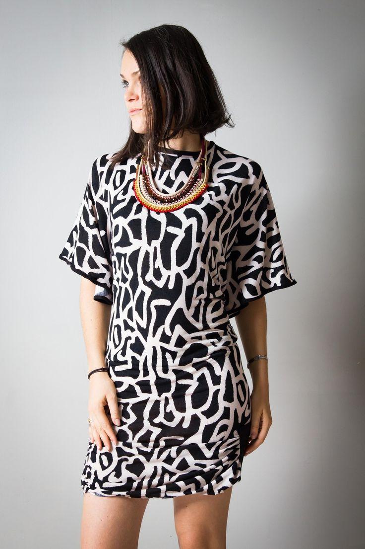 Robe femme dos nu noir et blanc : Robe par all-by-k