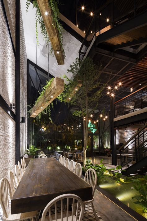 Pin by milano on decor cafe | Restaurant design, Garden cafe, Cafe ...