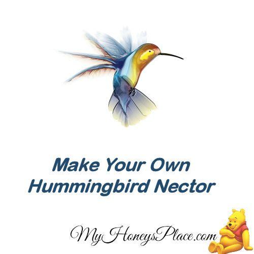 Make Your Own Hummingbird Nector