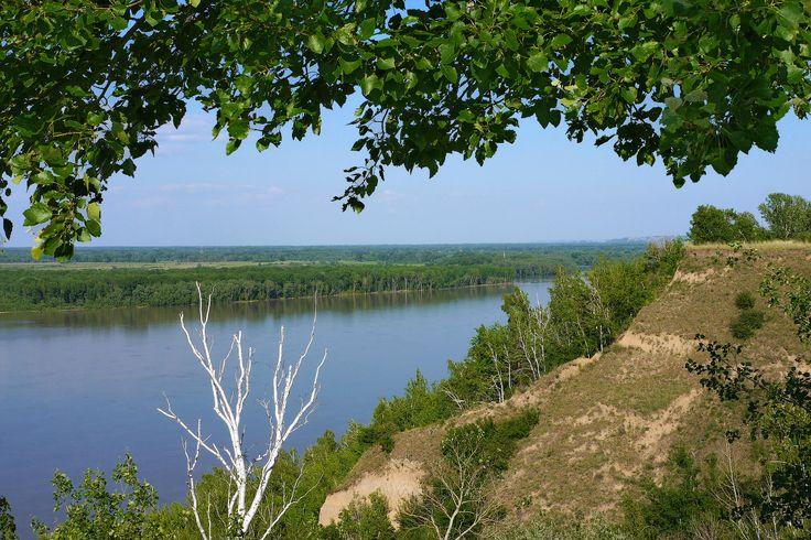 Река Обь. Шелаболихинский район Алтайского края. Россия