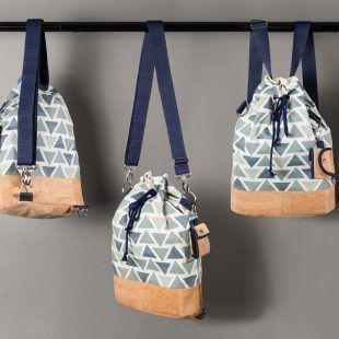 kostenlose Anleitung + Schnittmuster für einen wandelbaren Rucksack aus Korksto…