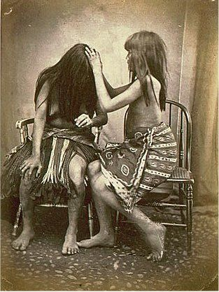 A pair of Pima Indians circa 1870