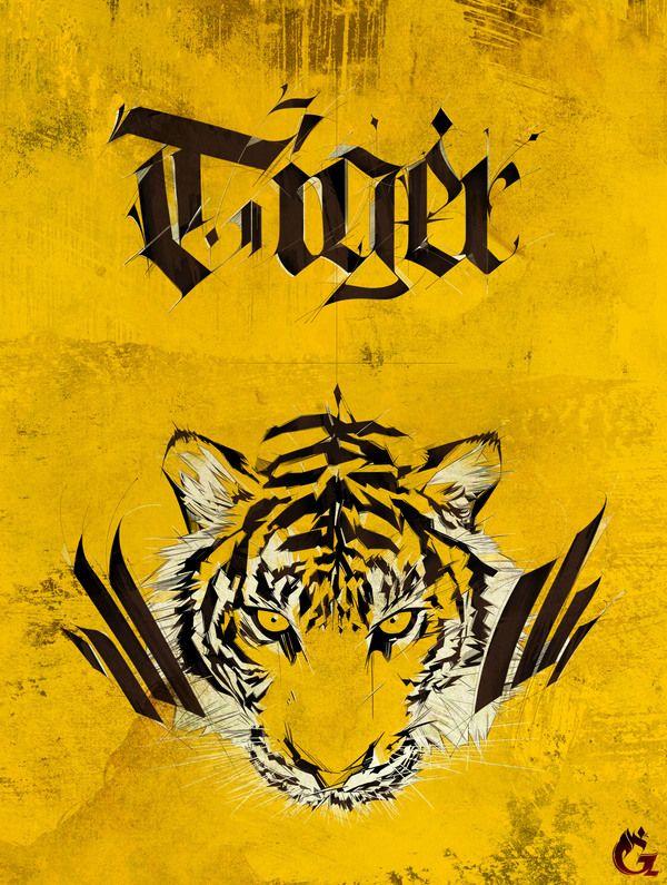 Tiger by Choe Greema, via Behance