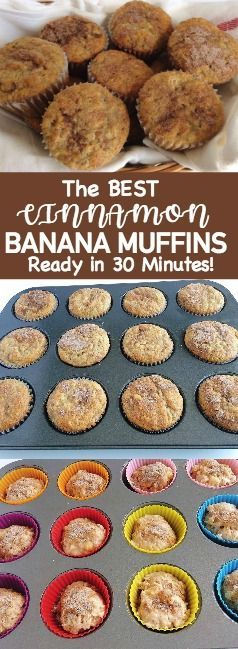 The best Easy Cinnamon Swirl Banana Bread Muffins are moist and full of bananas and cinnamon. The perfect banana muffin recipe! (Best Breakfast Skillet)