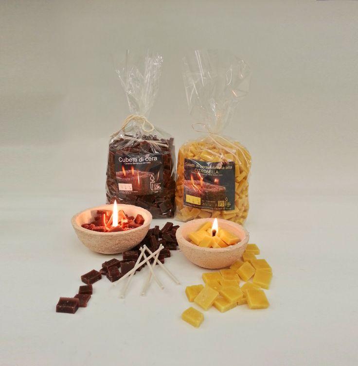 candele cubetti di cera da esterno anche profumati alla citronella