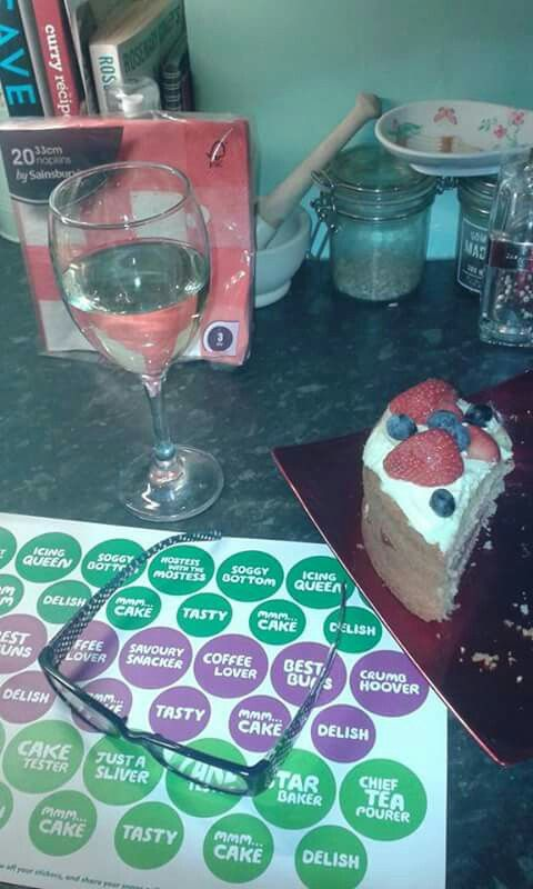 Fundraising, cake and wine.... love my job - redcards.co.uk