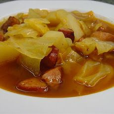 Cabbage, Kielbasa  and Potato Stew