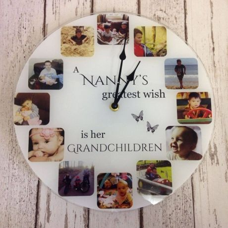 Greatest Wish Personalised Acrylic Photo Clock.
