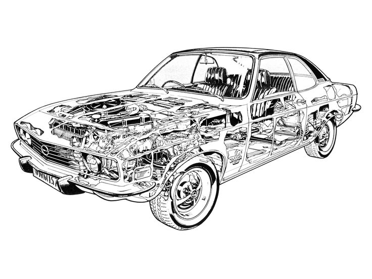 1973-74 Opel Manta Luxus (A) - Illustrated by Terry Davey