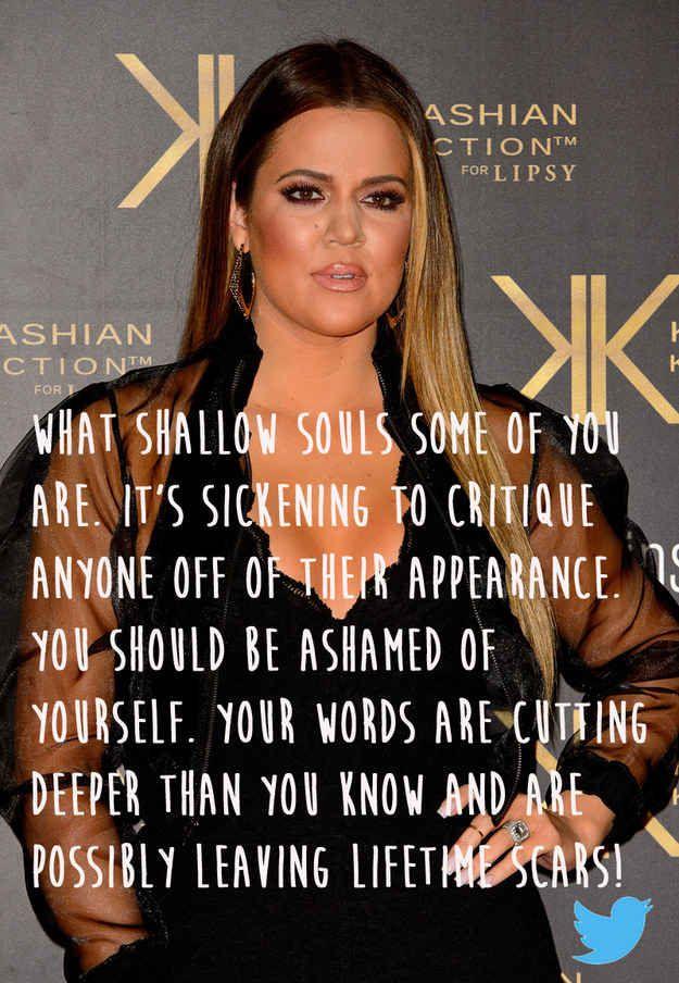 Khloe Kardashian | 20 Celebrities Who Totally Owned Their Body Image Trolls