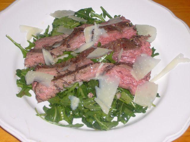 Hanger Steak with Arugula & Parmesan Salad