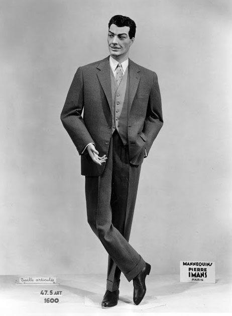 pierre imans mannequins de cire homme ann es 50 mode 1940 1950 pinterest vintage. Black Bedroom Furniture Sets. Home Design Ideas