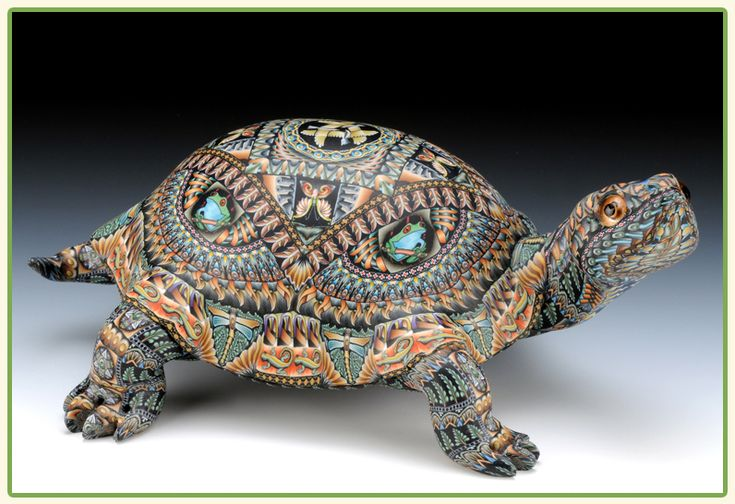 Polymer clay turtle by Jon Anderson.  http://www.fimocreations.com