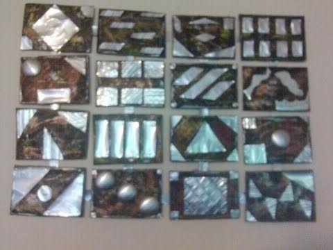 DIY Cuadro reciclando latas de aluminio / Wall decoration recycling alum...