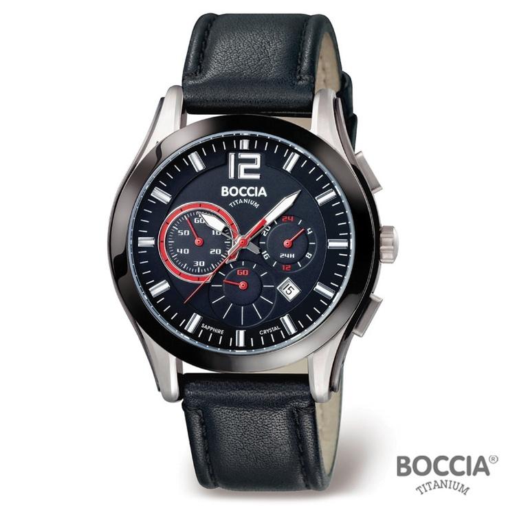 17 best images about watches men s watches black boccia titanium black leather band titanium case mens watch 3771 01 black sapphire crystal dial