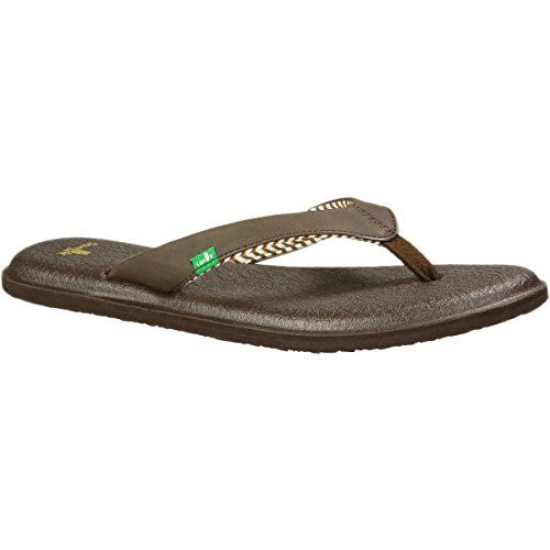 Sanuk Womens Yoga Chakra Flip Flop Brown 8 M US >>> Read more reviews of the product by visiting the link on the image.(This is an Amazon affiliate link and I receive a commission for the sales)