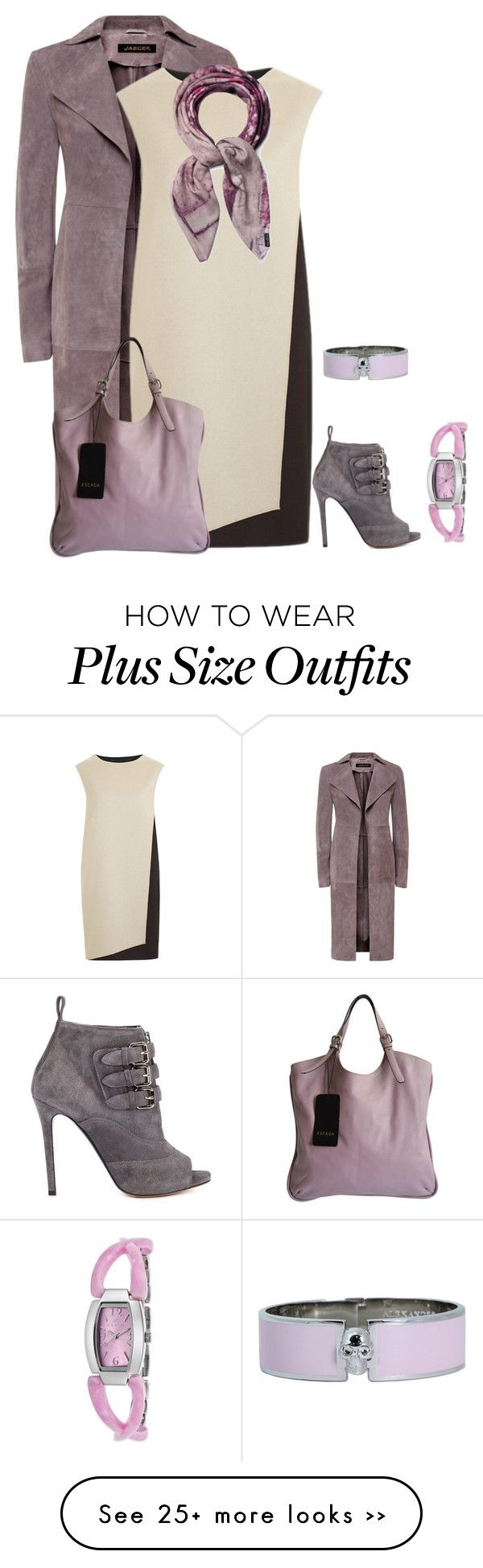 """""""outfit 2404"""" by natalyag on Polyvore featuring Jaeger, PINGHE, Tabitha Simmons, ESCADA, Alexander McQueen, Clyda and Fraas"""