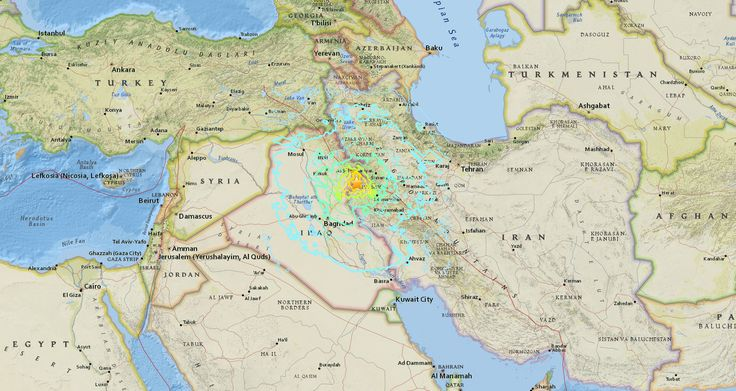 Tuesday, Nov. 14, 2017: Detail of an USGS map with information on the earthquake that hit the Iraq-Iran border region (Credit: USGS) Yesterday evening, a magnitude 7.3 earthquake hit the Iraq-Iran border region. According t…