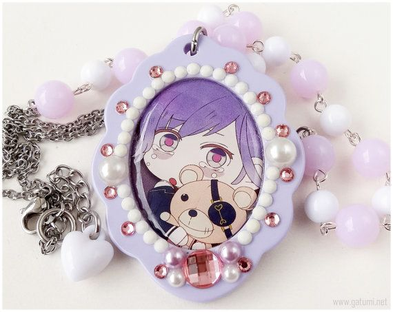 Diabolik Lovers Kanato Decoden Necklace Lavender and by gatumi