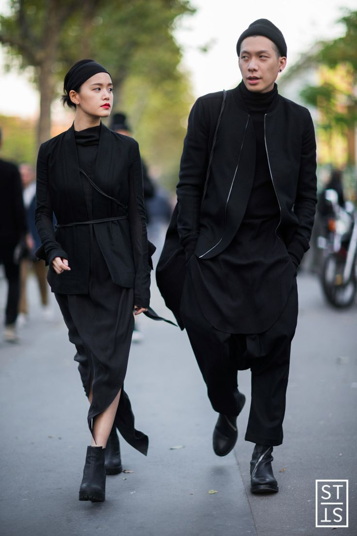 Street Style during Paris Fashion Week SS 2016 before Rick Owens