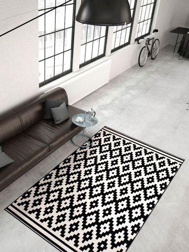 Teppich weiß schwarz  Die besten 25+ Teppich schwarz weiß Ideen auf Pinterest | Schwarze ...