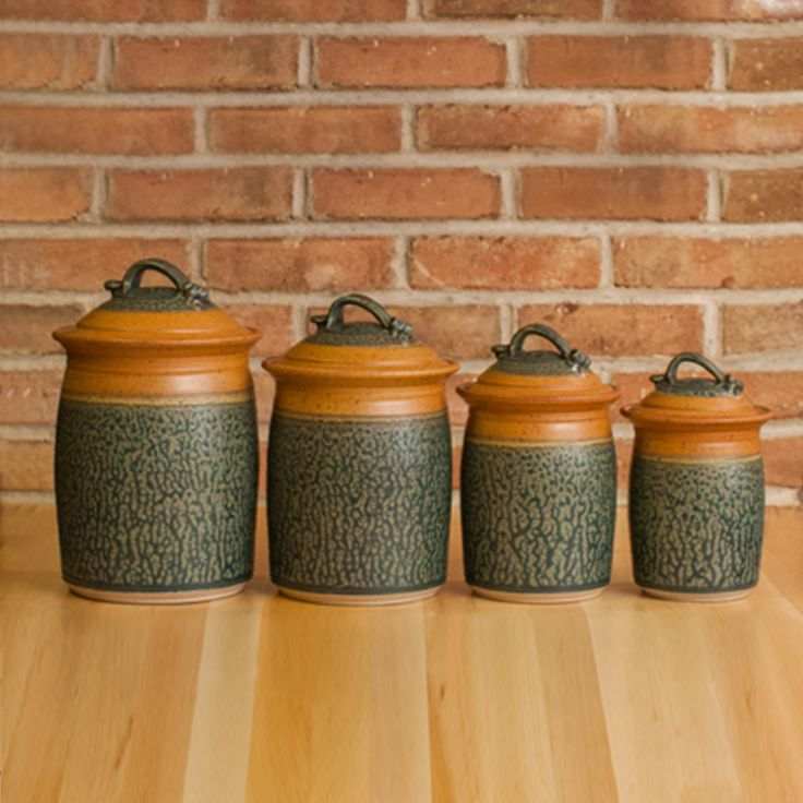 pottery kitchen canister sets 35 best pottery canister sets images on 21353