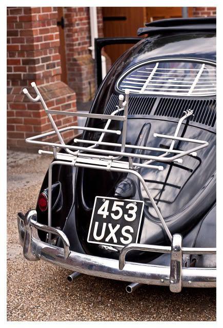 luggage rack for vw beetle | Vintage 50s luggage/ bike rack fits vw beetle